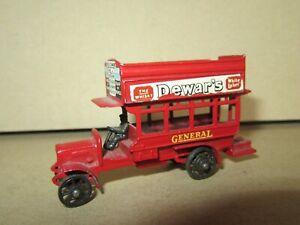 903D 1956'S Matchbox Yesteryear Y2 England B Type London Bus DEWAR'S 1911 L 7 CM