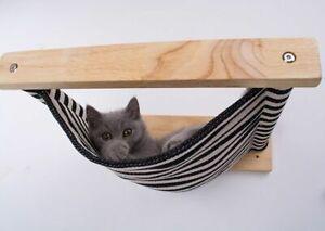 Wall Mounted Cat Shelf Wood Shelves Bed Tree Platform Furniture Perch Step House