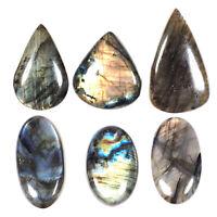 Natural Labradorite 687.75 Cts 6 Pcs Wholesale Lot Loose Cabochon Gemstones