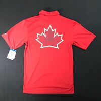 Russell Athletic Canadian Leaf Dry Fit Red Polo Shirt Men's Size M NWT