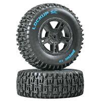 Duratrax DTXC3673 Mounted Rear Lockup SC C2 Tires / Wheels (2) Associated SC10