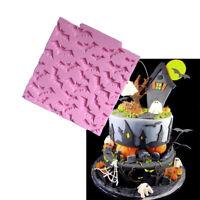 Bat Cake Silicone Mold Halloween Fondant Chocolate &Mold DIY Baking Decoration