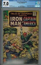 CGC 7.0 TALES OF SUSPENSE #80 1ST FULL COSMIC CUBE CLASSIC RED SKULL COVER OW PG