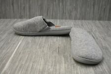 **Dearfoams Closed Toe Slip On Slippers, Women's Size XL 11-12, Gray NEW