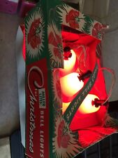VINTAGE CHRISTMAS BELL LIGHTS MILLER LITES NO. 310 w CARTON -WORKS