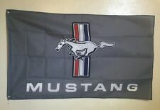 Ford Mustang Logo 3x5 Flag Banner Muscle Car Show Garage Racing Shop Decor GT