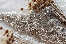 Rhinestone Applique Pearl Applique Crystal Lace Trim Bridal Accessories