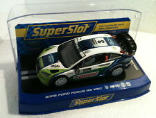 qq H 2802 SUPERSLOT FORD FOCUS RS WRC 06 R ARGENTINA # 3 GRONHOLM Scalextric UK