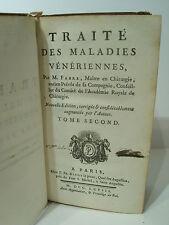 FABRE - Traité des maladies vénériennes - Tome 2 - 1 / 2 - 1768 - Livraison 2 €