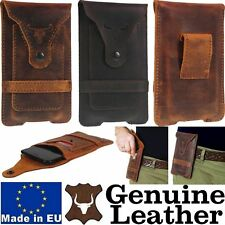 BULL'S HEAD GENUINE LEATHER BELT POUCH CASE & CARD POCKET COVER FOR MOBILE PHONE