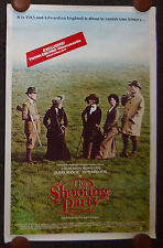 THE SHOOTING PARTY ORIGINAL 1980s VHS HOME VIDEO CASSETTE MOVIE POSTER