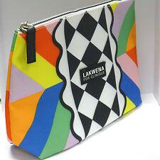 Clinique Lakwena Cosmetic Makeup Bag, Large, Multi-color, with Bonus Pack
