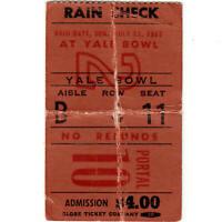 JANIS JOPLIN & GORDON LIGHTFOOT Concert Ticket Stub NEW HAVEN 7/12/69 YALE BOWL