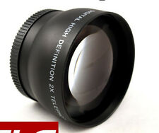 Hot 58mm 2.0X Telephoto Converter Lens For Canon EOS 1100D 1000D 18-55mm Camera