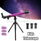 20/40/60x 30mm Kids Astronomical Telescope w/ Tripod Science Educational Toy A picture