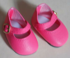 Dark Pink Color Mary Jane Shoes That Fit American Girl Wellie Wishers Dolls H4H