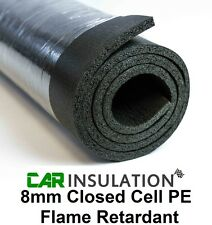 8mm Car Sound Proofing Closed Cell Foam 2m² Deadening Van Insulation Van Heat PE