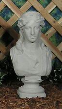 Classic Roman Grecian Victorian Lady Bust Latex Fiberglass Mold Concrete Plaster