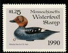 Massachusetts State Waterfowl Hunting Permit Stamp Whistler Hen Portrays #17