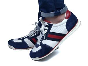 GUCCI men's white web signature fabric sneakers   Size 10.5/US 11 (11,5 in)