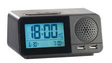 Radio-réveil radio-piloté avec  hygromètre / thermomètre / chargement USB - Auv