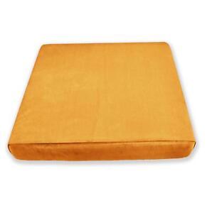Mf45t Gold Orange Thick Microfiber Velvet 3D Box Seat Cushion Cover Custom size