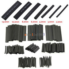 127Pcs Black Glue Weatherproof Heat Shrink Sleeving Tubing Tube Assortment Kit