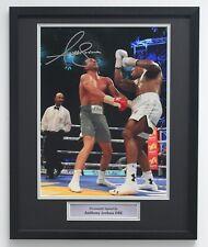 More details for anthony joshua klitschko boxing memorabilia autograph signed photo classic frame