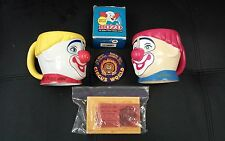 Circus Lot-Barnum and Bailey Mugs, Bozo the Clown Mini Bop Bag, Vintage Circus