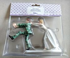 New In Package Camo Runaway Groom Wilton Wedding Cake Topper Husband Angry Bride