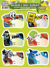 Scratch n Sniff School Book Labels, Scratch and Sniff Kids Scented School Book L