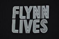 T-SHIRT L LARGE FLYNN LIVES RETRO TRON ARCADE GAMING SHIRT