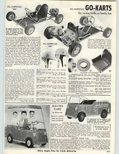 1962 PAPER AD All American Go Cart Kart 600 Electra Car Surry Fire Truck Mark IV