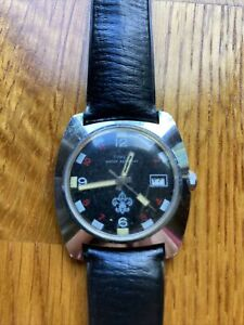 Vintage 1970's Timex Boy Scouts Mechanical Watch