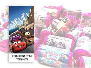 Disney Cars Mini Love Hearts Sweets Party Bag Fillers Kids Childrens #8