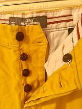 H&M 31 WOMEN'S MUSTARD YELLOW STRAIGHT STRETCH PANTS SIZE 31 MEASURES 33x31 (D7)