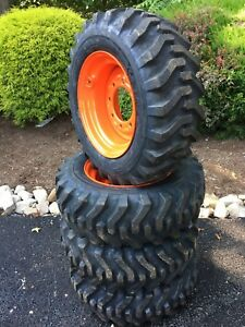 4 NEW 10-16.5 Skid Steer Tires/wheels/rims for Bobcat - Camso sks332 - 10 ply