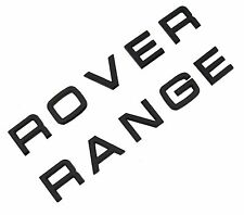 Matt Black Lettering Range Rover Classic bonnet boot font decal badge tailgate
