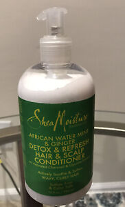 SHEA MOISTURE AFRICAN WATER MINT & GINGER CONDITIONER 13oz Detox & Refresh