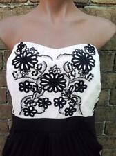 CITY CHIC STRAPLESS PLEATED DRESS EMBROIDED BUST SIZE MEDIUM OR SIZE 18