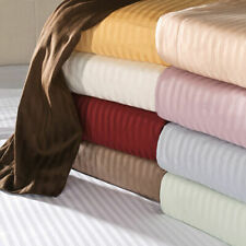 1000 TC EGYPTIAN COTTON  4 -PC TWIN - XL SIZE BED SHEET SETS ALL STRIPED COLORS