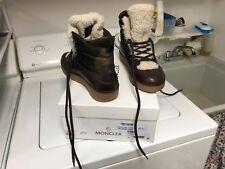 Moncler - $670 Men's Brown/Camo boots w/shearling trim, size 8.5 US/41 EU, w/box