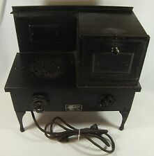 Old Vintage Metal Child's Toy Electric Range Stove & Oven Sears Roebuck & CO.