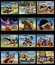 Gambia 1698-1713 MNH Disney, American Indians, Horse, Animals