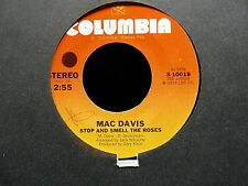MAC DAVIS Stop and smell the roses / Poor boy boogie  3-10018