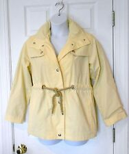 MACKINTOSH new england S all weather rain coat jacket pale YELLOW  hooded or not