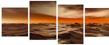 "20"" X 40""+ Long 4 Piece Wall Art Canvas Pictures Molokai Ocean Sea Water Prints"