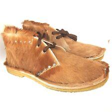 C-1695112 New Prada Pony Fur Chukka Shoes Size Marked 10 US 11