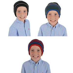Children Boys Warm Beanie Hat, Age 6-13 - 100% Acrylic