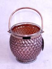 Windlicht Kerzenglas laterne Teelichthalter Kerzenständer kupferfarben Deko-Glas